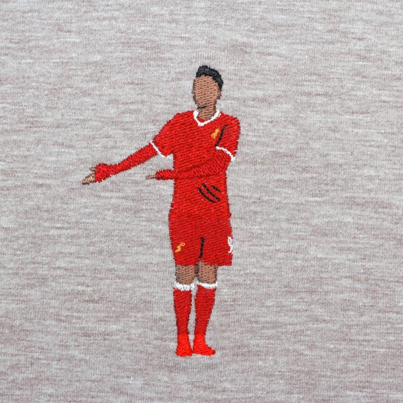 Футболка с вышивкой Firmino | Liverpool светло-коричневый меланж