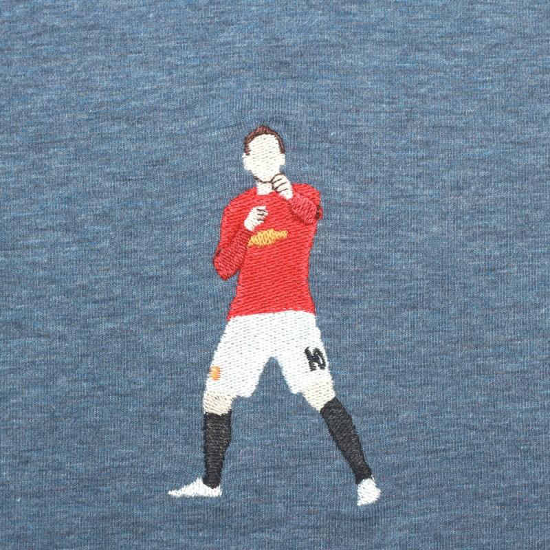 Футболка с вышивкой Rooney | MU сиреневый меланж