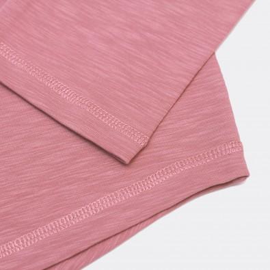 Лонгслив Base Raglan свободного кроя розовый