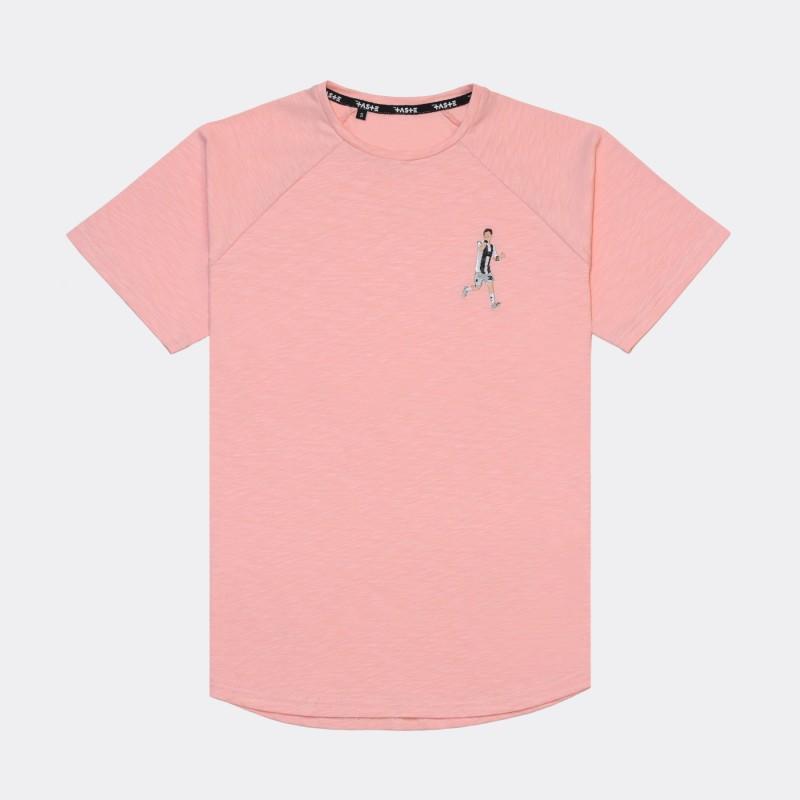 Футболка с вышивкой Dybala | Juventus розовый меланж