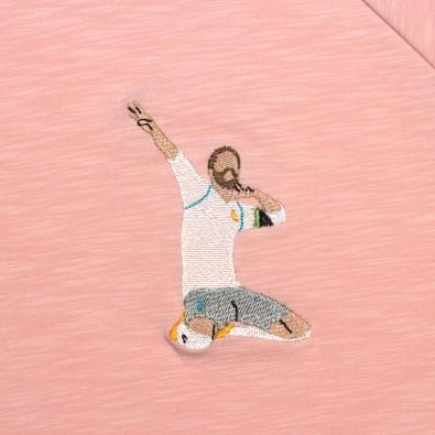 Футболка с вышивкой Ramos   Real Madrid розовый меланж