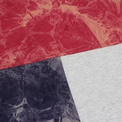 Футболка Tie Dye Tricolor Block Red