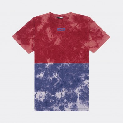 Футболка Tie Dye Two-color Block - Red / Blue