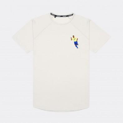 Футболка с вышивкой Ronaldo Nazario | Brasil белый меланж
