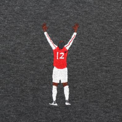 Футболка с вышивкой Henry | Arsenal черный меланж