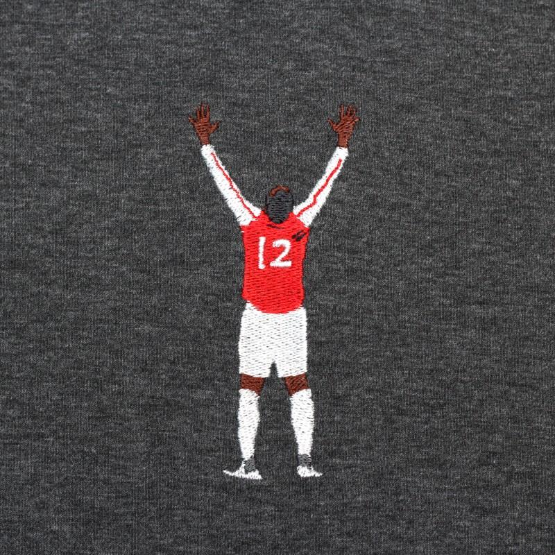 Футболка с вышивкой Henry   Arsenal черный меланж