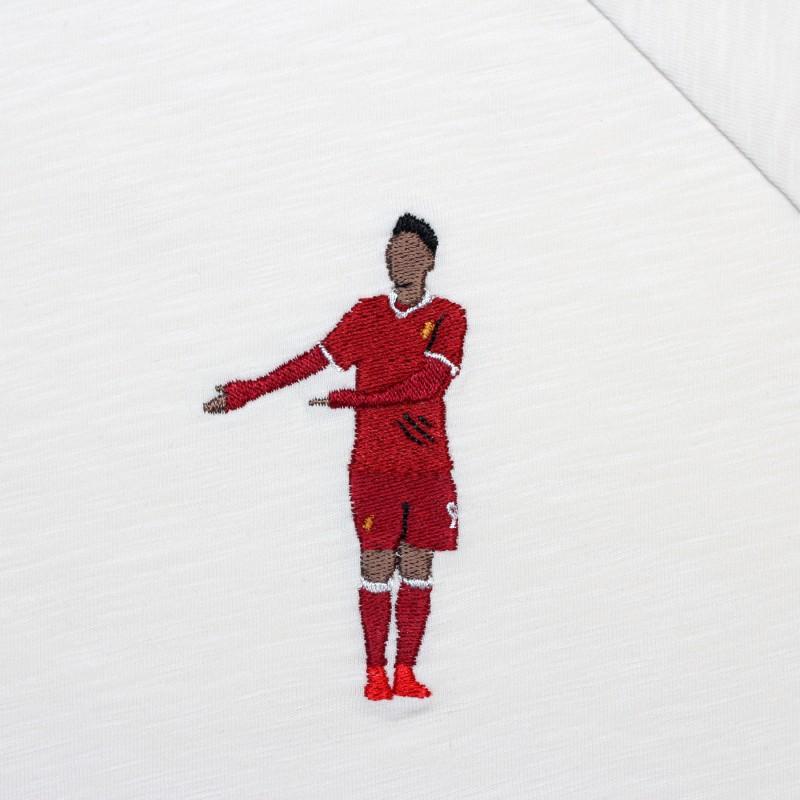 Футболка с вышивкой Firmino | Liverpool белый меланж
