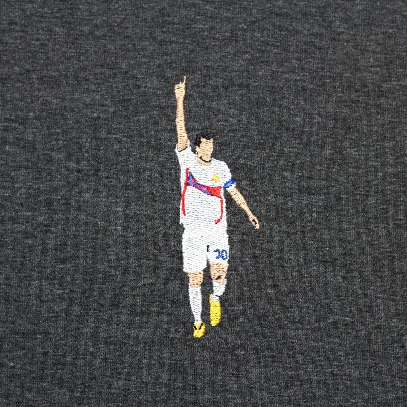Футболка с вышивкой Zidane | France черный меланж