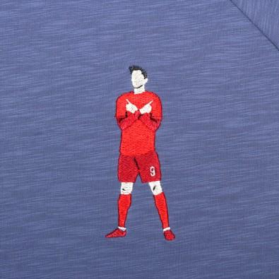 Футболка с вышивкой Lewandowski | Bayern Munchen индиго меланж
