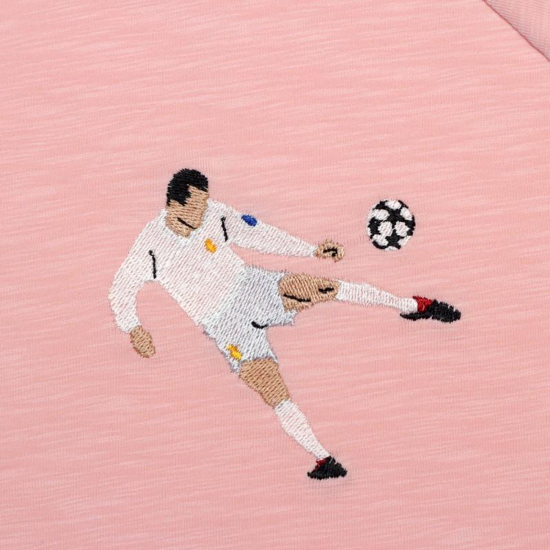 Футболка с вышивкой Zidane | Real Madrid розовый меланж