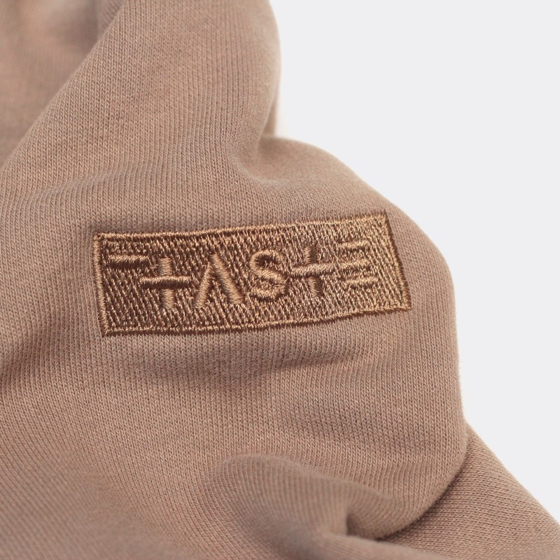Толстовка с капюшоном SH сolor block brown / pink