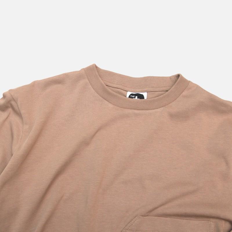 Лонгслив с карманом DP basic коричневый