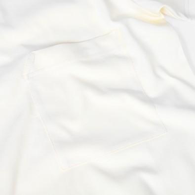 Футболка свободного кроя с карманом DP basic ванильная