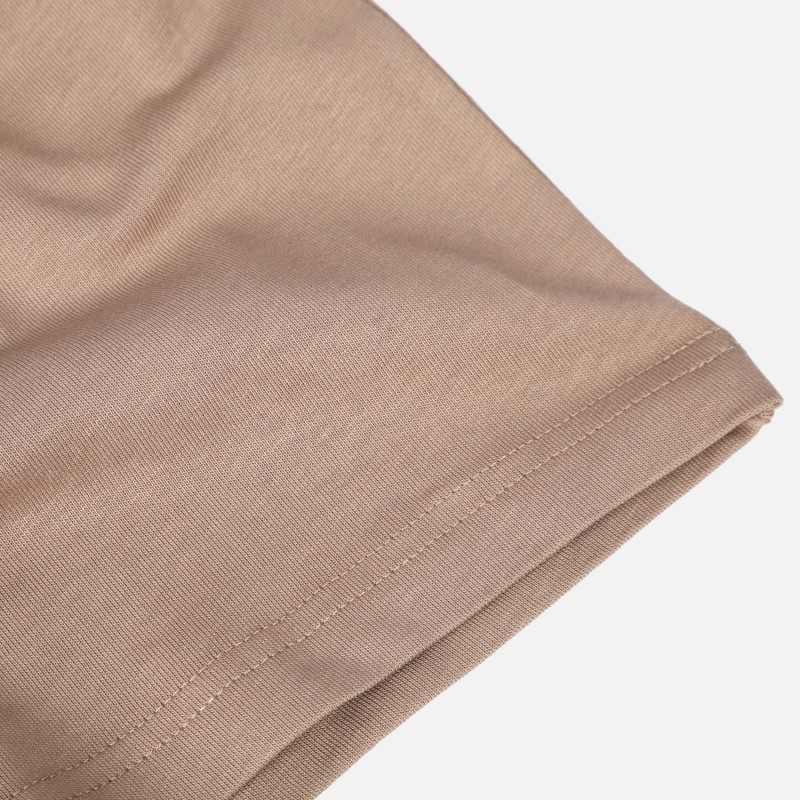 Футболка свободного кроя с карманом DP basic коричневая