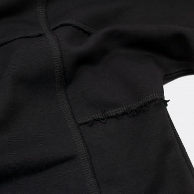Свитшот свободного ассиметричного кроя Lines black