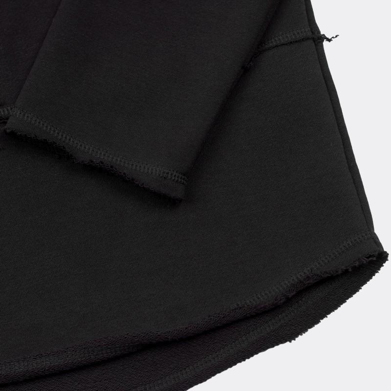 Свитшот свободного асимметричного кроя Lines black