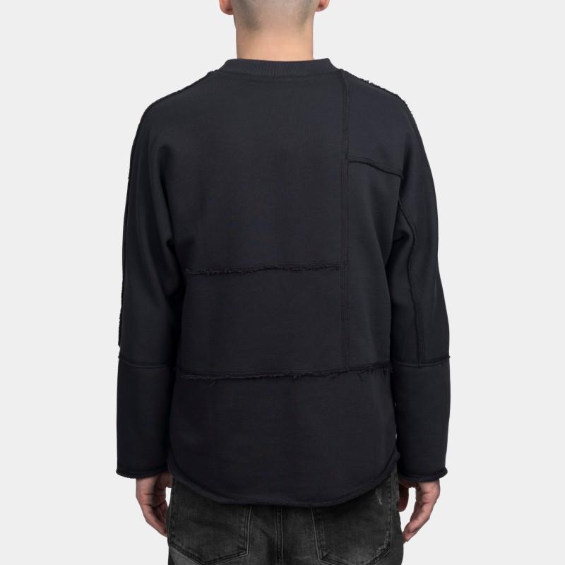 Свитшот свободного асимметричного кроя Lines dark-gray