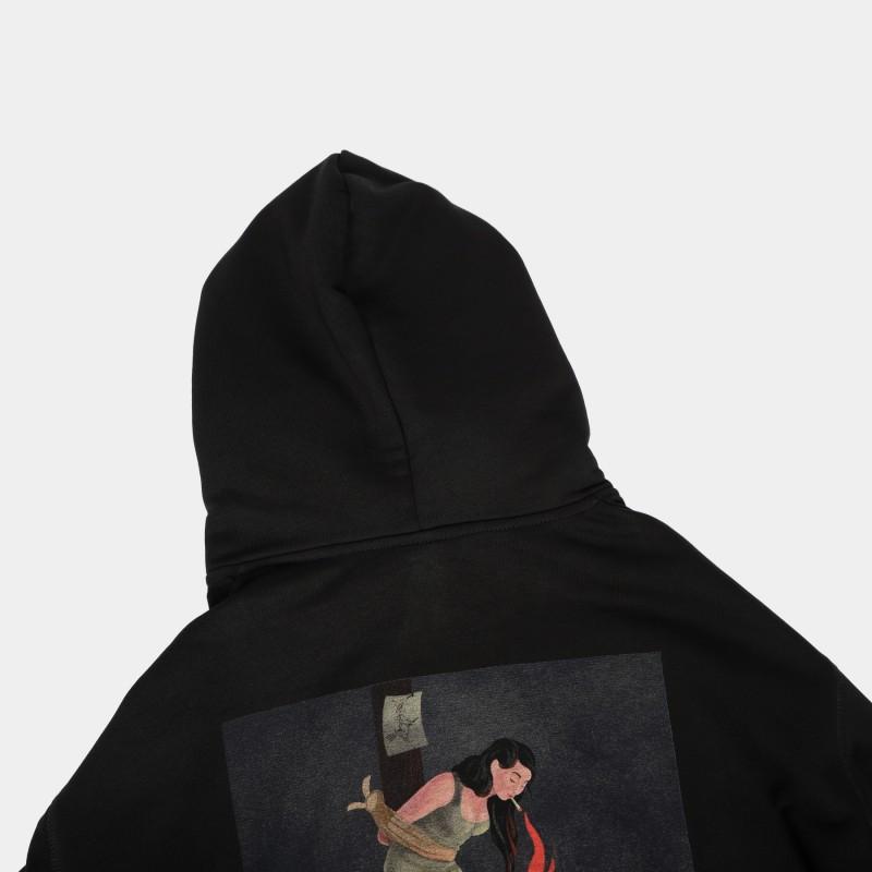 Толстовка Unif basic с принтом Witch on fire black