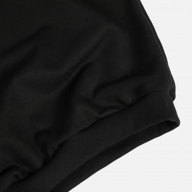 Свитшот с короткими рукавами свободного кроя Fusion black