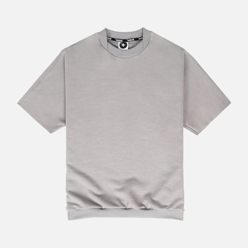 Свитшот с короткими рукавами свободного кроя Fusion gray