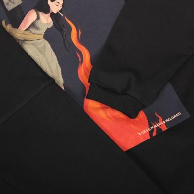 Свитшот свободного кроя Uni crew soft с принтом Witch on fire