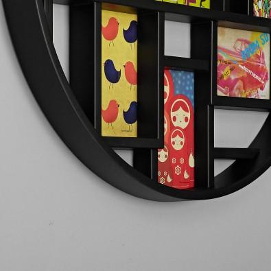 Панно для фотографий на стену Luna черное
