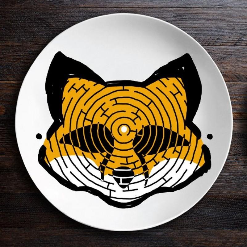 Набор тарелок ZooLab с рисунком (Лис|Мартышка)