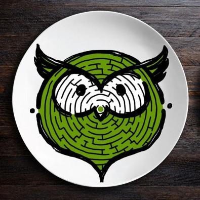 Набор тарелок ZooLab с рисунком (Сова|Панда)