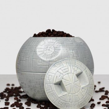 Керамическая ваза Звезда смерти (серая)