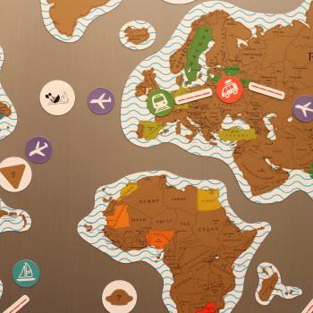 Магнитная скретч карта мира True Map Puzzle Gold