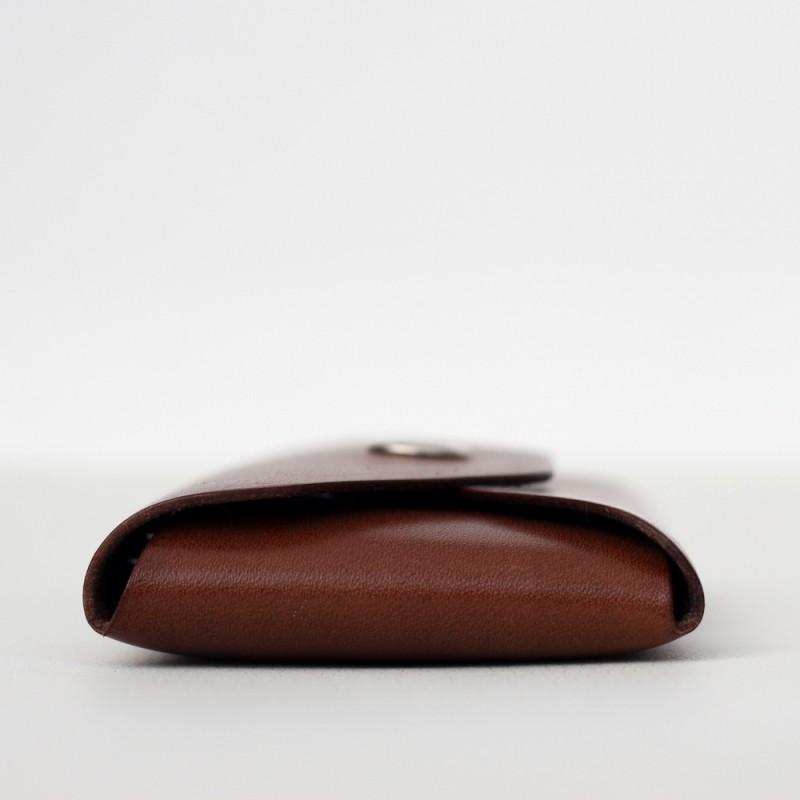 Кожаный кошелек для карточек Plick (коричневый)