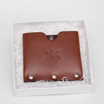 Кожаный кошелек / кардхолдер Dobb (коричневый)