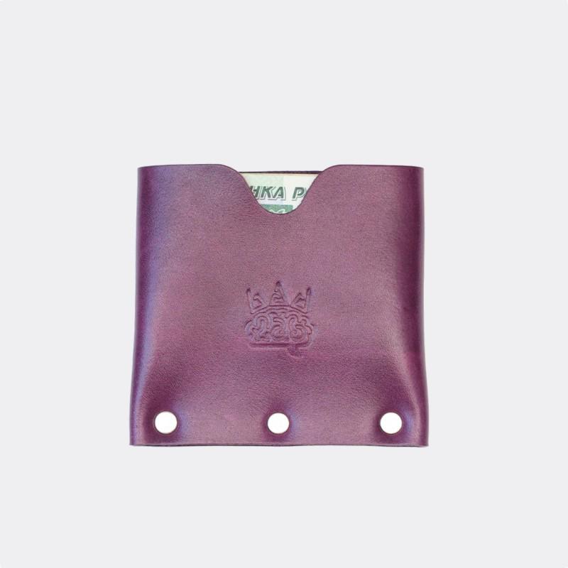 Кожаный кошелек / кардхолдер Dobb (фиолетовый)