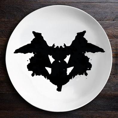 Набор тарелок с пятнами Роршаха (Ниндзя|Бабочка)