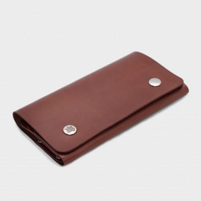 Кожаный клатч Comodo (коричневый)