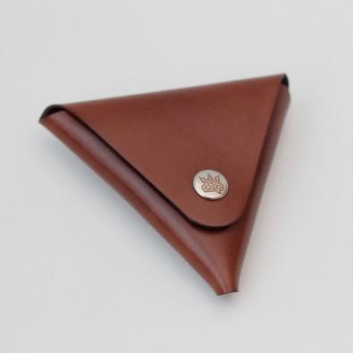 Кожаный кошелек / монетница Dalet (коричневая)