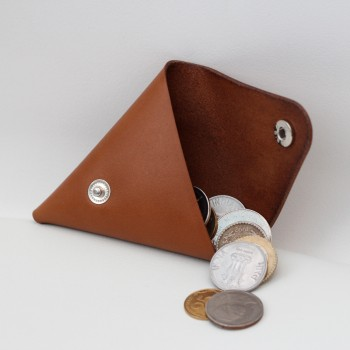 Кожаный кошелек / монетница Dalet (медовая)