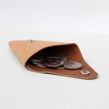 Кожаный кошелек / монетница Dalet (песочная)