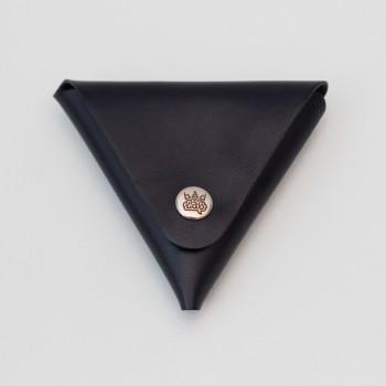 Кожаный кошелек / монетница Dalet (синий)