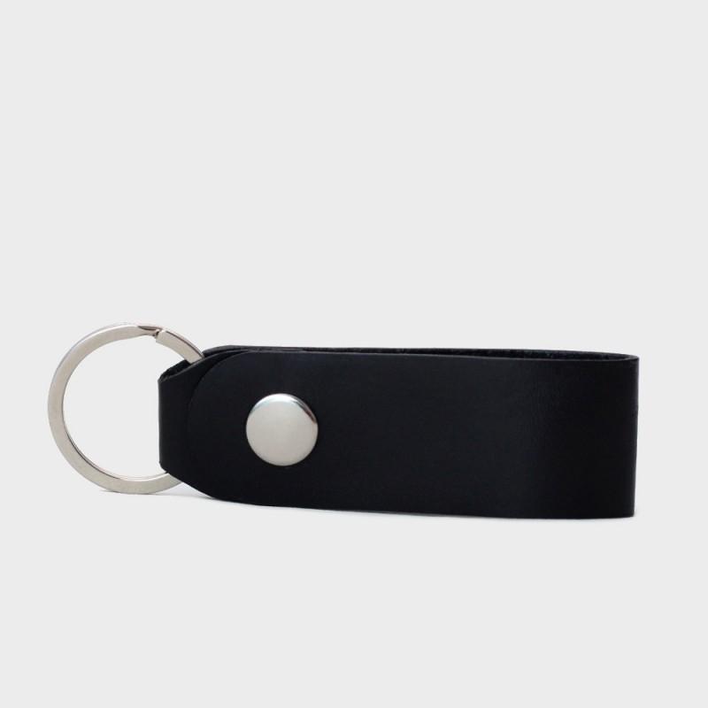 Кожаная ключница / брелок для ключей Loop (черный)