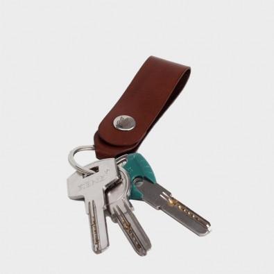 Кожаная ключница / брелок для ключей Loop (коричневый)