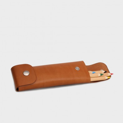 Кожаный пенал для ручек Tube (медовый)