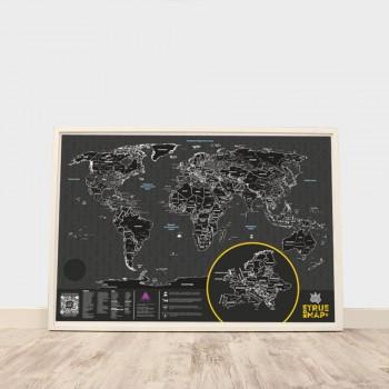 Скретч карта мира True Map Plus Noir