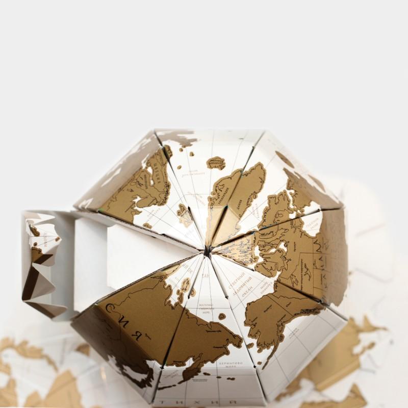 Глобус со скретч слоем TrueWorld
